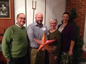 On hand to accept the award were FLOC Trustees Matt Croy, Zach Thomas, W. Jean Daniel and Sandra Krueger